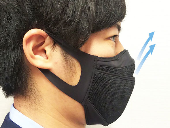 セパレート構造で呼吸がしやすいという「クレンゼセパレートマスク スポーツ」