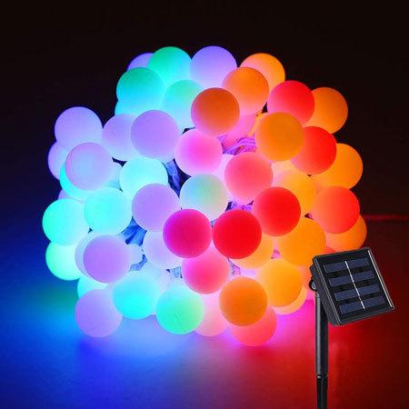 「ソーラー LED ストリングライト イルミネーションライト」