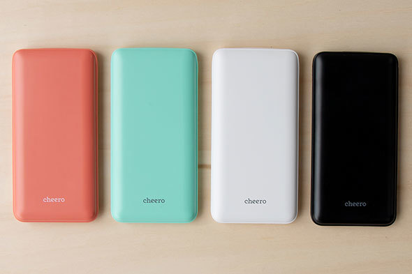 「cheero Flat 10000mAh with Power Delivery 18W」