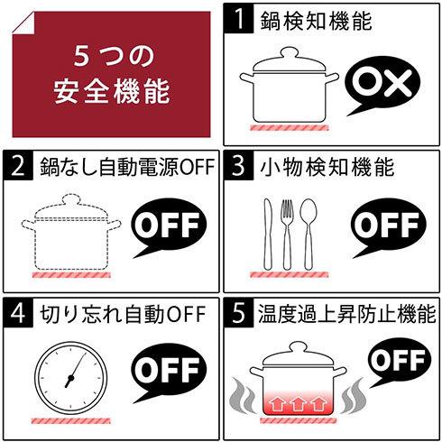 IH調理器選び:安全性の確認も