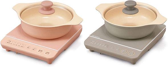 使い勝手の良い鍋もセットになっており、プレゼントにも最適なアイリスオーヤマ「IHコンロ鍋セット1000W IHKP-T3820」シリーズ