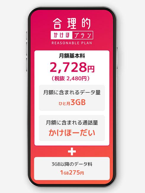 日本通信SIMの「合理的かけほプラン」