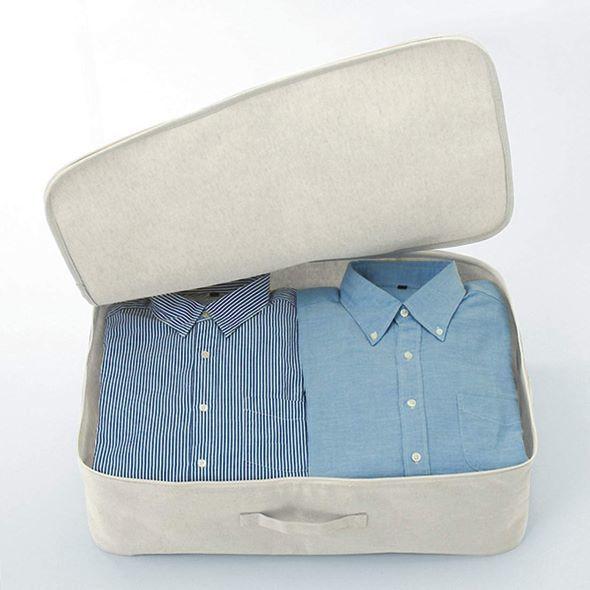衣替えにも大活躍な無印良品「ポリエステル綿麻混・ソフトボックス・衣装ケース」