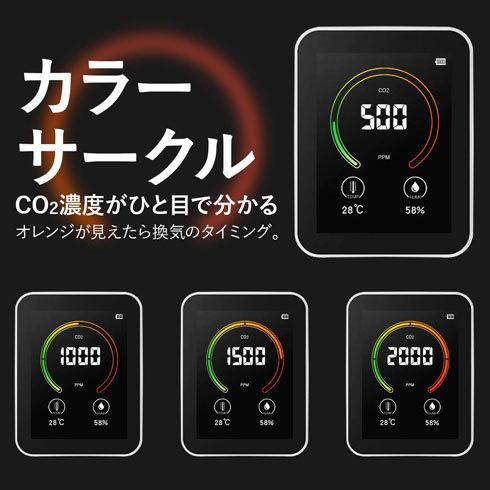 二酸化炭素濃度測定器:リアルタイム数値+LED表示の製品がおすすめ