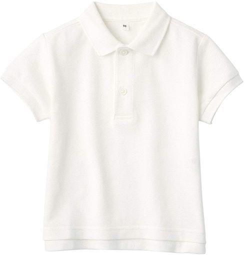 ベビーサイズも 無印良品「インド綿鹿の子編み ポロシャツ(ベビー)」
