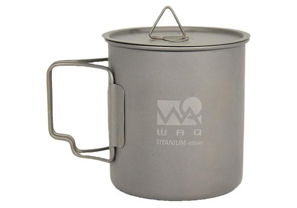 WAQ チタンマグカップ 450ml(蓋付き)