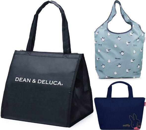 ディーン&デルーカ(DEAN&DELUCA)「クーラーバッグ ブラックL」/アネス(Aness)「保冷買い物バッグp574」/サーモス(THERMOS)「保冷ランチバッグ4L/RDU-0043B MFY」