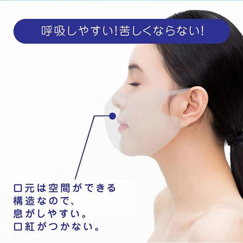 冷感マスク:口元空間に余裕があるか、構造をチェック