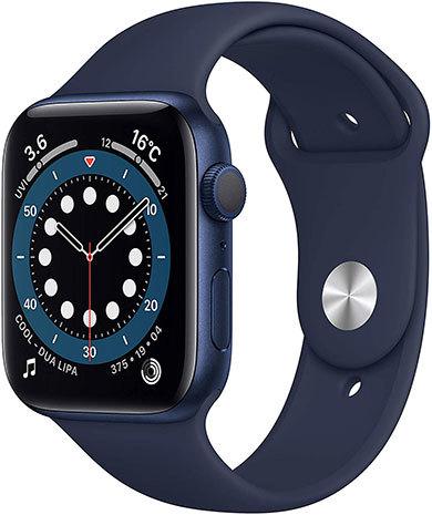 「Apple Watch Series 6」(GPSモデル、44mmブルーアルミニウムケースとディープネイビースポーツバンド)