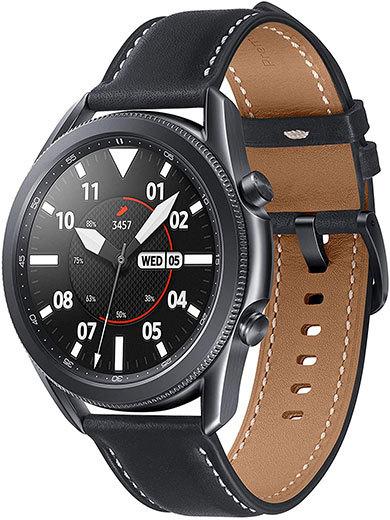 サムスン電子「Galaxy Watch3 45mm ステンレススチールミスティックブラック」