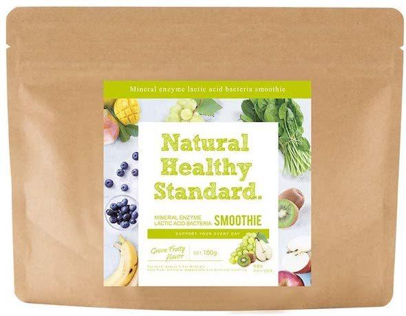 ニホンバイオフーヅ製造「ナチュラルヘルシースタンダード ミネラル酵素スムージー 乳酸菌グリーンフルーティー味」