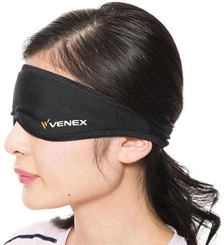 アイマスク・耳栓:アイマスクは遮光性と通気性をチェック