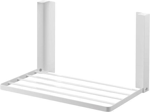 山崎実業「洗濯機横マグネット折り畳み棚 タワー」