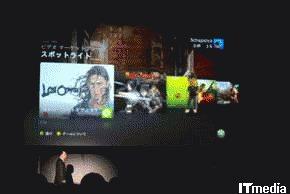 マーケットプレース画面。今までと比べ、ビジュアル面が強化され見やすくなった印象のXbox LIVEのインタフェース