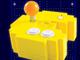 古典ゲームが遊べる パックマンの形のゲーム機