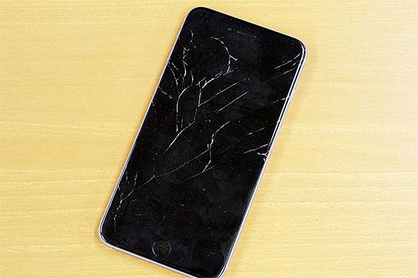 iPhone 6 Plusのガラス割れ