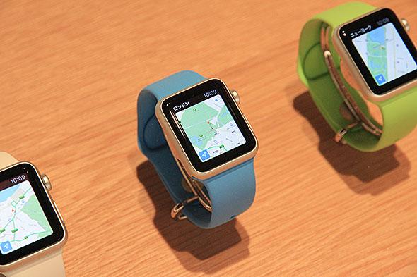 Apple Watchのマップアプリ