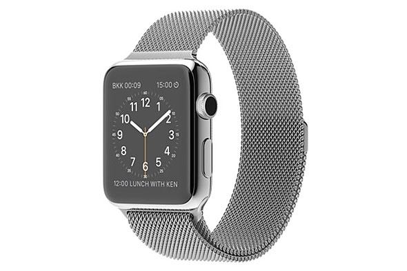 Apple Watch 42mm ステンレススチールケースとミラネーゼループ