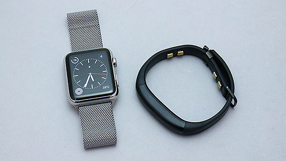 Apple Watch and Jawbone UP3