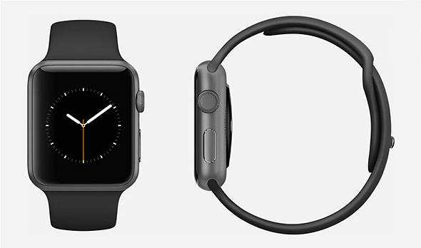 Apple Watch Sport �X�y�[�X�O���C�A���~�j�E���P�[�X�ƃu���b�N�X�|�[�c�o���h