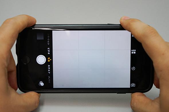 iPhoneで写真を撮るときシャッター音が鳴らない! これは故障?