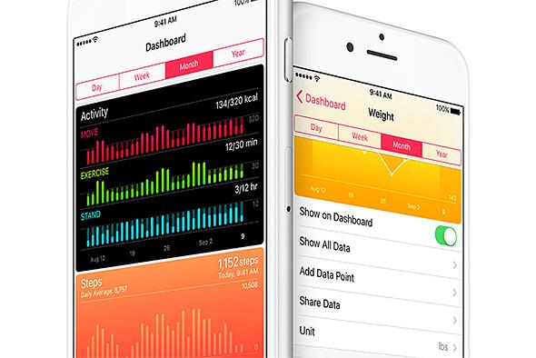 iOS 9.3 ヘルスケア