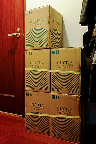 CLYTIAの天然水を備蓄