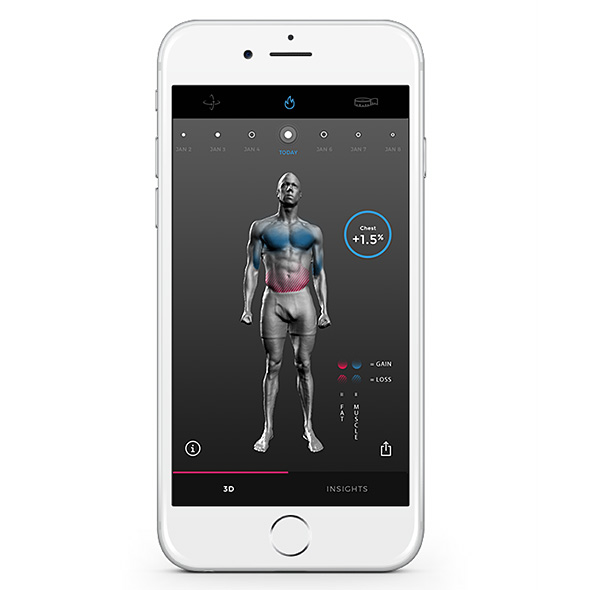 Naked 3D Fitness Tracker