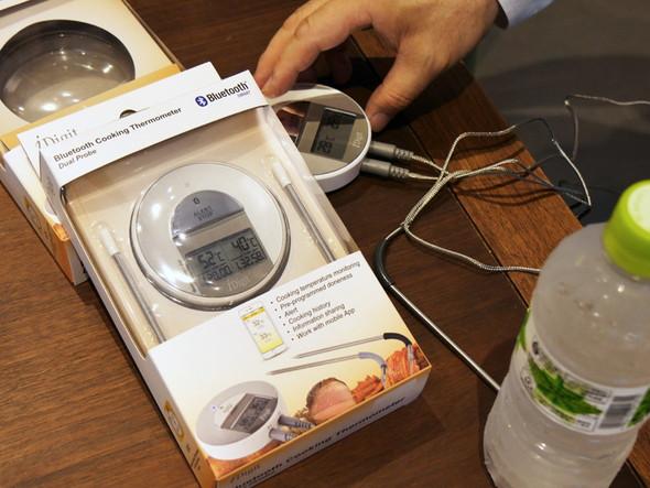 調理温度をスマートフォンで管理できる「Bluetooth Cooking Thermometer」