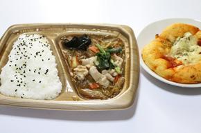 「肉野菜炒め弁当」