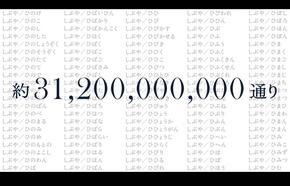 全組み合わせは約312億通り