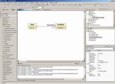 画面1 XDE/Javaモデリングウィンドウ(クリックで拡大)