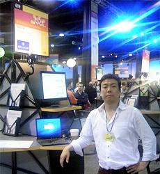 Lotusphere 2007会場でのリアルコムブースの様子