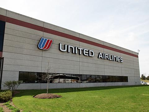 シカゴ・オヘア国際空港近くにあるUnited Airlineのコンタクトセンター