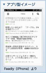 アプリ型イメージ Feedly(iPhone)より