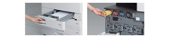 用紙トレイや消耗品交換などの操作性も改善