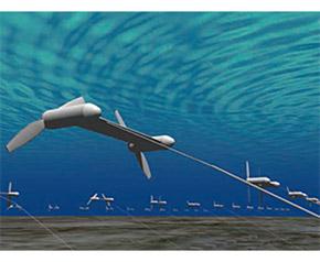 浮体式海流発電ファームの予想図