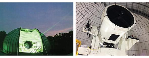 NICTの宇宙光通信地上局の外観