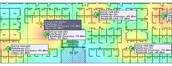 電波干渉源の監視と可視化、特定の例