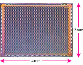 試作CMOSアニーリング専用LSIチップ