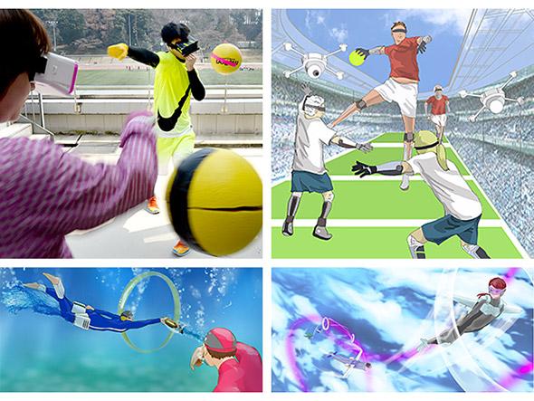 「超人スポーツ」の未来イメージ例