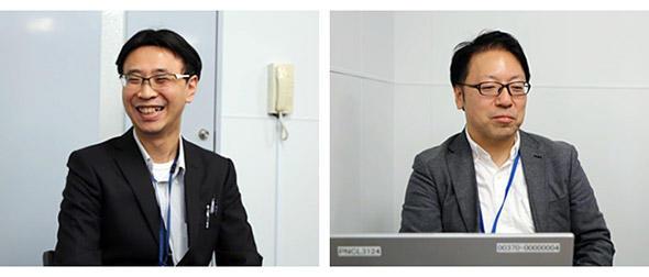 濱崎センター長(左)と川島部長(右)