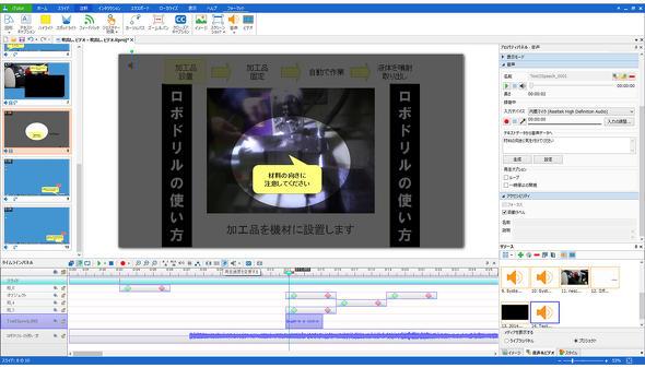 図3 動画マニュアルの編集機能