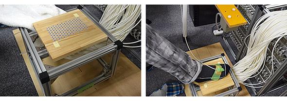 足裏に触覚を生む実験装置