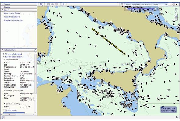船舶の位置情報マッピング