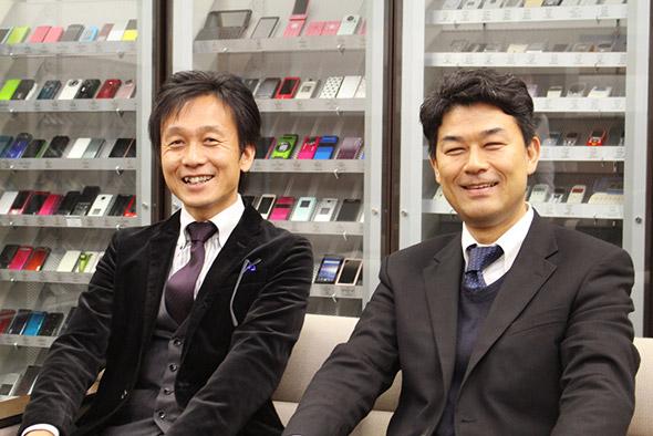KDDI 財務・経理部の西田氏(右)と伊藤氏(左)