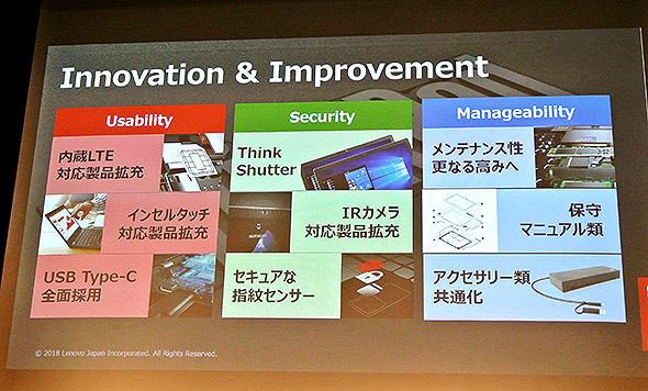 新ThinkPadシリーズの進化点