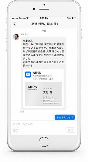 メッセージ機能のイメージ図