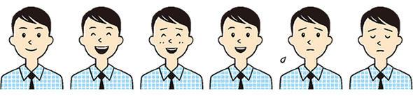 「アオイくん」キャラクターの表情は6種類