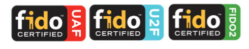 図1 FIDO認定を示す3種類のロゴ